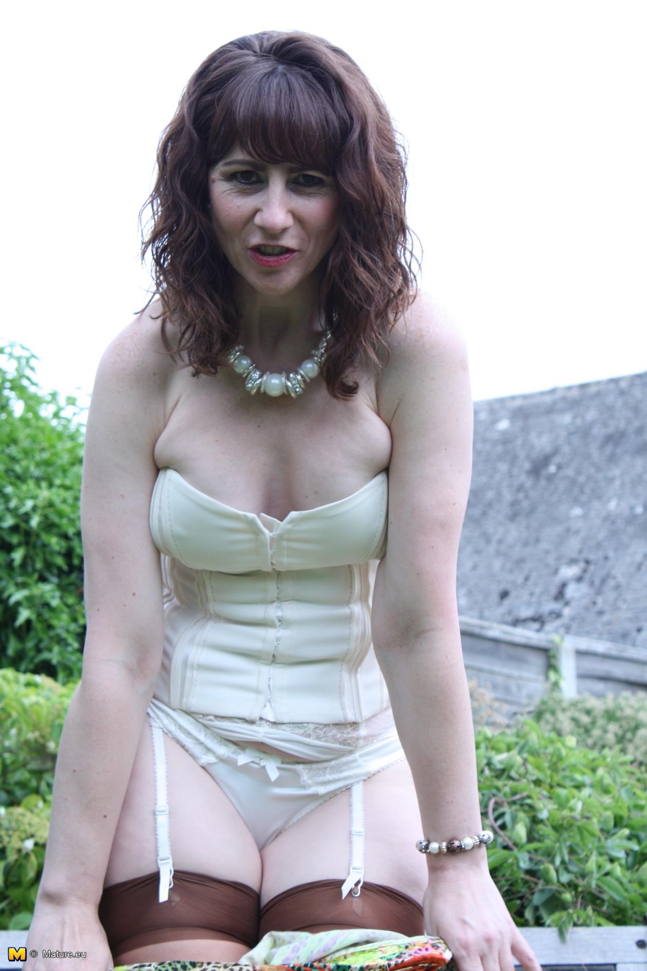 Horny british milf wife having morning sex riding to orgasm 8