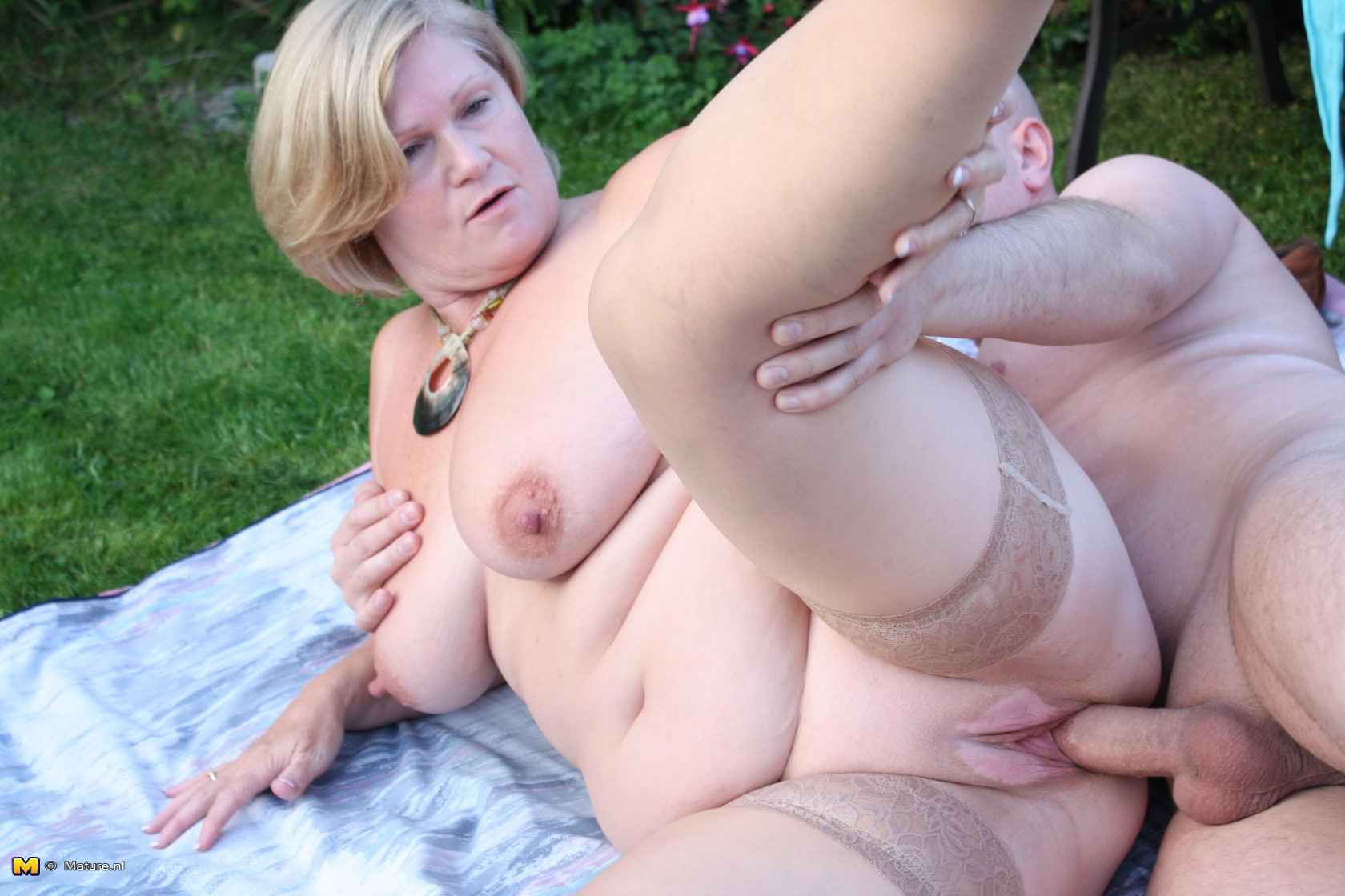 German bbw fucked outside 8
