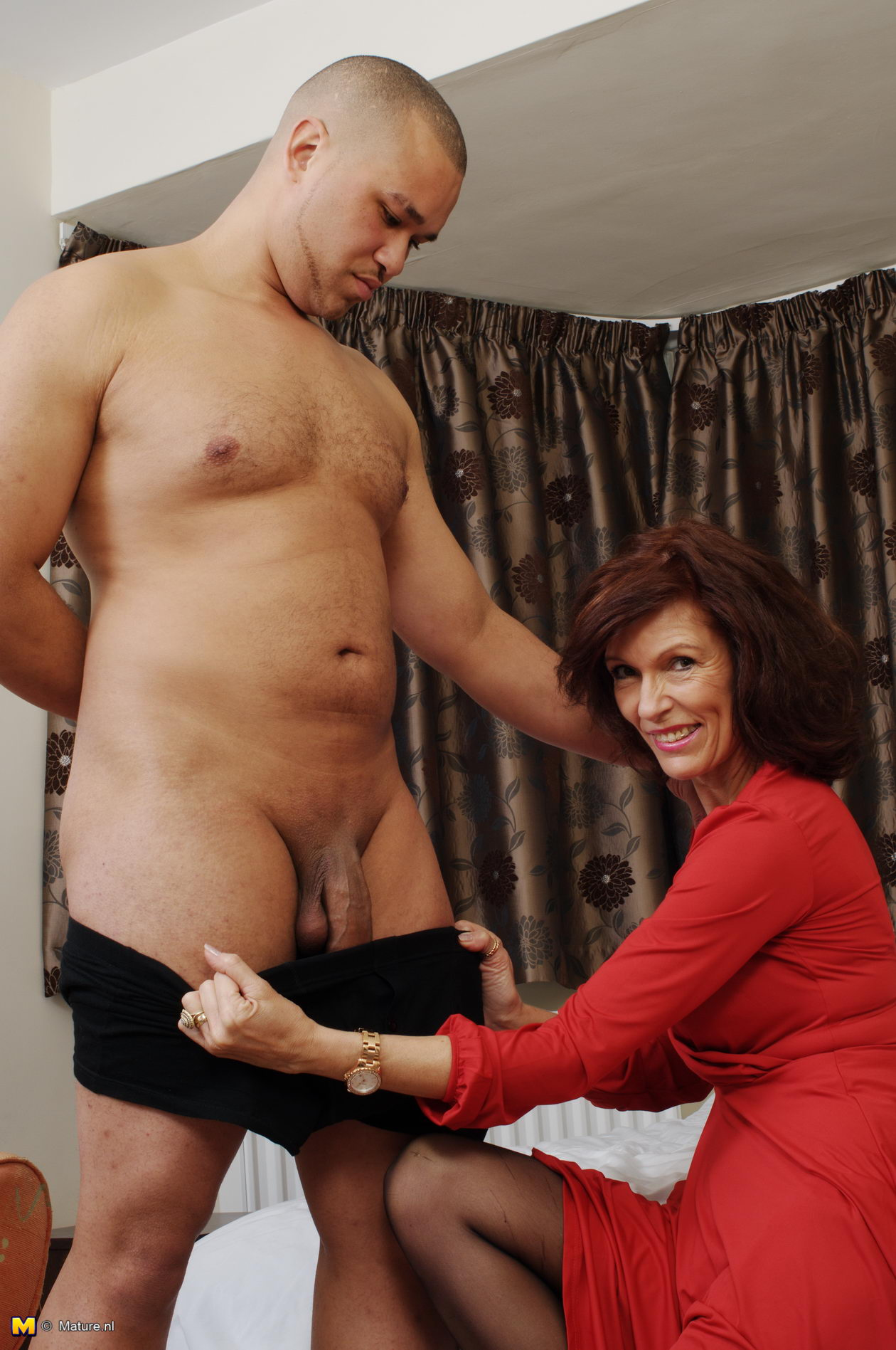 Horny Cougar Playing With Her Toy Boy